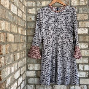 LOFT VINTAGE 60'S VIBE BELL-SLEEVE MINI DRESS 4